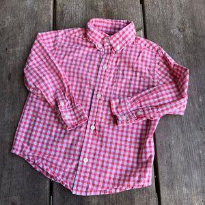 Janie and Jack Coastal Club Gingham Poplin Shirt 2